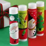 Holiday Themed Lip Balm Favors