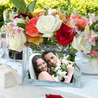 Glass Photo Vase Favors