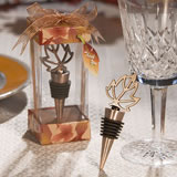 Fall-Themed Bottle Stopper Wedding Favors