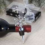 Winter-Themed Wine Bottle Stopper Wedding Favors