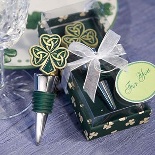 Trinity Love Knot Bottle Stopper Wedding Favors