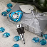 Stunning Murano Heart Design Wine Bottle Stoppers