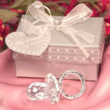 Crystal Pacifier Favors in Elegant Packaging