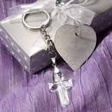 Crystal Cross Key Chain Favors