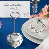 <em>Choice  Crystal Collection</em> Heart Design Place Card Holders