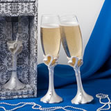 Interlocking Heart Toasting Flutes (Set of 2)