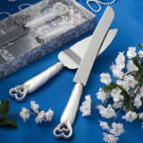 Interlocking Heart Cake Knife and Server Set