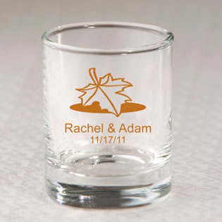 Personalized Fall Shot Glass Favors