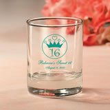 Personalized Sweet Sixteen Votive Favors or shot glass.
