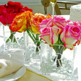 Square Glass Vase Favors