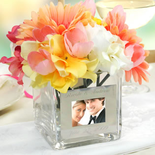 Square Glass Picture Vase Favors
