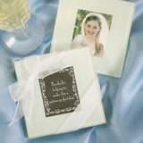Glass Photo Coasters - Set of Two Wedding Favors