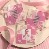 Baby Shower Photo Coaster Favors - Girl