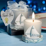 Nautical Themed Candle Wedding Favors