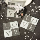 'LOVE' Coaster Wedding Favors