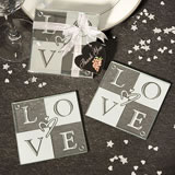 LOVE Coaster Wedding Favors - Set of 2