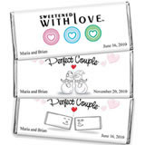 Hersheys Heart Theme 1.5 oz Chocolates Wedding Favors (3 designs available)