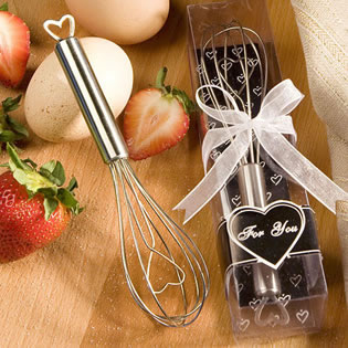 Heart Themed Whisk Wedding Favors