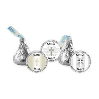 Christening / Communion Theme Hersheys Kiss Wedding Favors (3 designs available)
