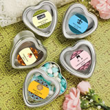 Personalized Expressions Collection Silver Heart Shaped Mint Tin Favors