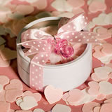 Heart Shaped Bath Confetti Soap in White Tin