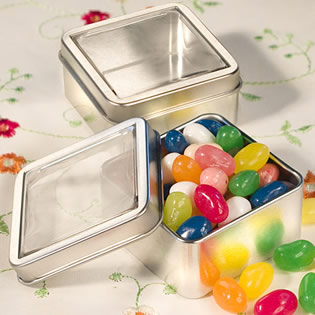 Clear Top Mint Tin Favors - Now Available with Personalized Stickers!