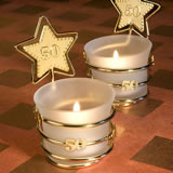 50th Anniversary Candle Favors