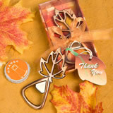Leaf Bottle Opener Favors