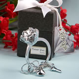 <em>Forever  Yours Collection</em> Diamond Ring Design Key Ring Favors..