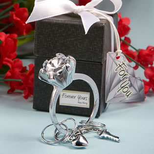 Forever  Yours Collection  Diamond Ring Design Key Ring Favors..