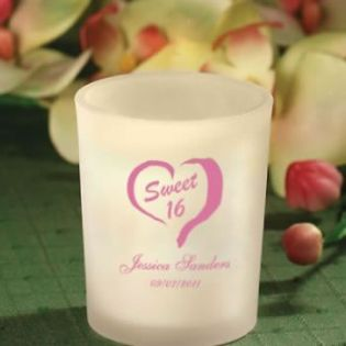 Personalized Sweet Sixteen Candle Favors