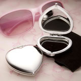 Heart Shaped Compact Mirror Wedding Favors