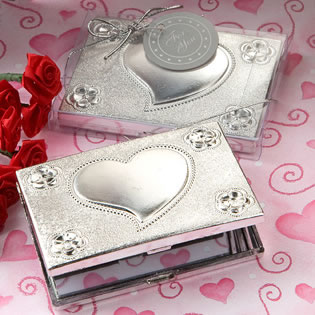 Heart Designed Compact Mirror Favors