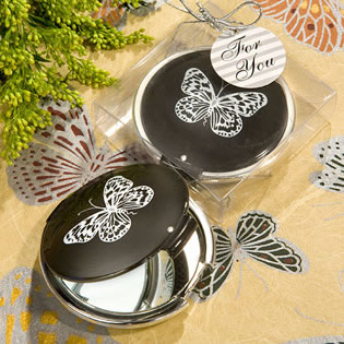 Butterfly Compact Mirror Favors