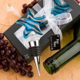 <em>Murano Glass Collection</em> Starfish Design Wine Bottle Stoppers
