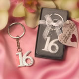 Sweet 16 Key Ring Favors