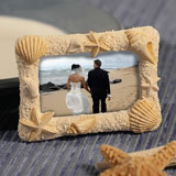 Beach Themed Place Card Frames: Multi-seashell