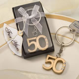50th Anniversary Keychain Favors