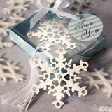 Snowflake Bookmark Wedding Favors