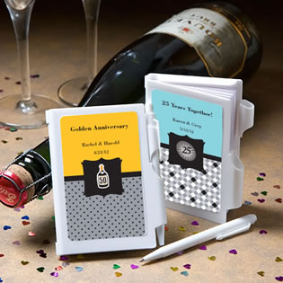 Personalized Notepad Anniversary Favors