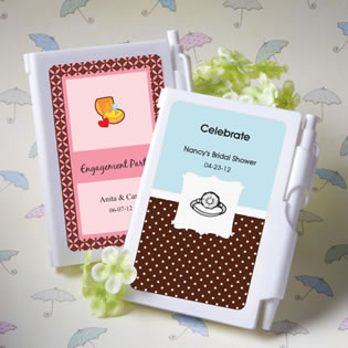 Personalized Notebook Bridal Shower Favors
