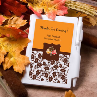 Personalized Fall Theme Notebook Wedding Favors