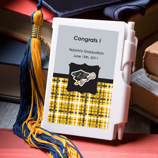 Personalized Notepad Graduation Favors