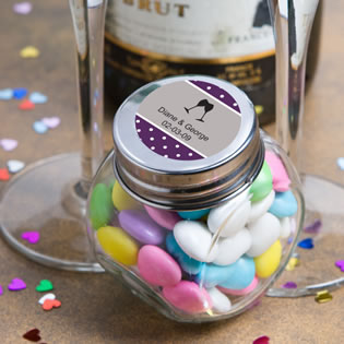 Personalized Glass Jar Anniversary Favors