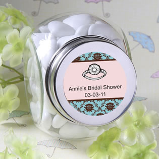 Personalized Glass Jar Bridal Shower Favors