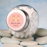 Personalized Fairy Tale Princess Themed Glass Jar Wedding Favors