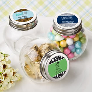 Personalized Glass Jar Graduation Favors