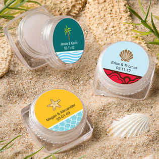 Beach Themed Lip Balm Favors