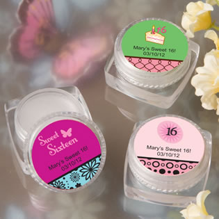 Sweet Sixteen Lip Balm Favors