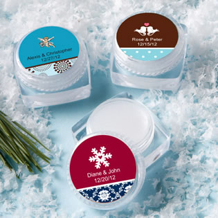 Winter Themed Lip Balm Favors